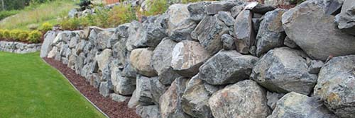 Boulder sample Retaining Wall